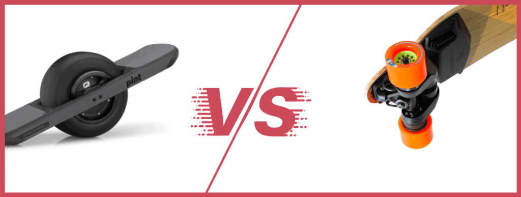 One wheel vs Boosted Board banner